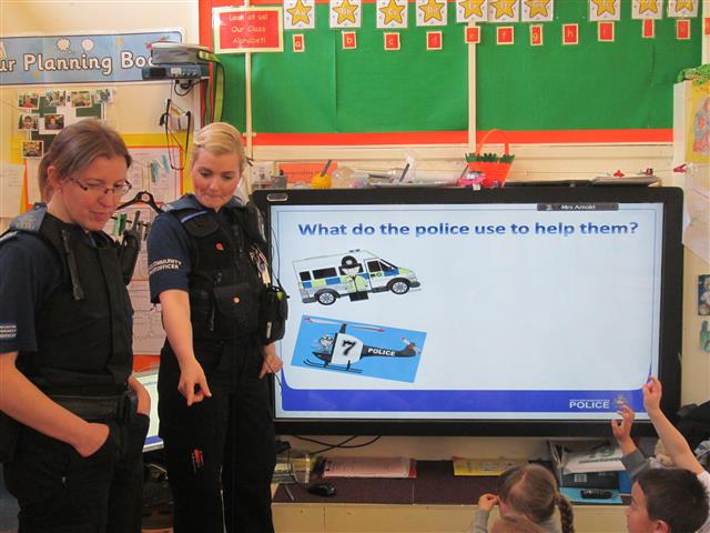 Police Officers shared their role in our community