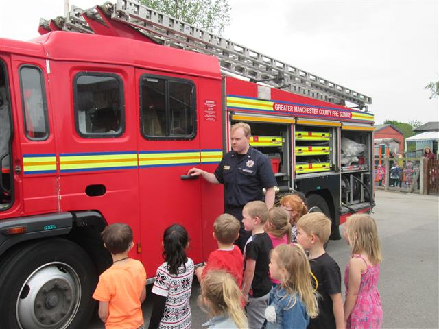 We learnt about all the equipment on a Fire engine